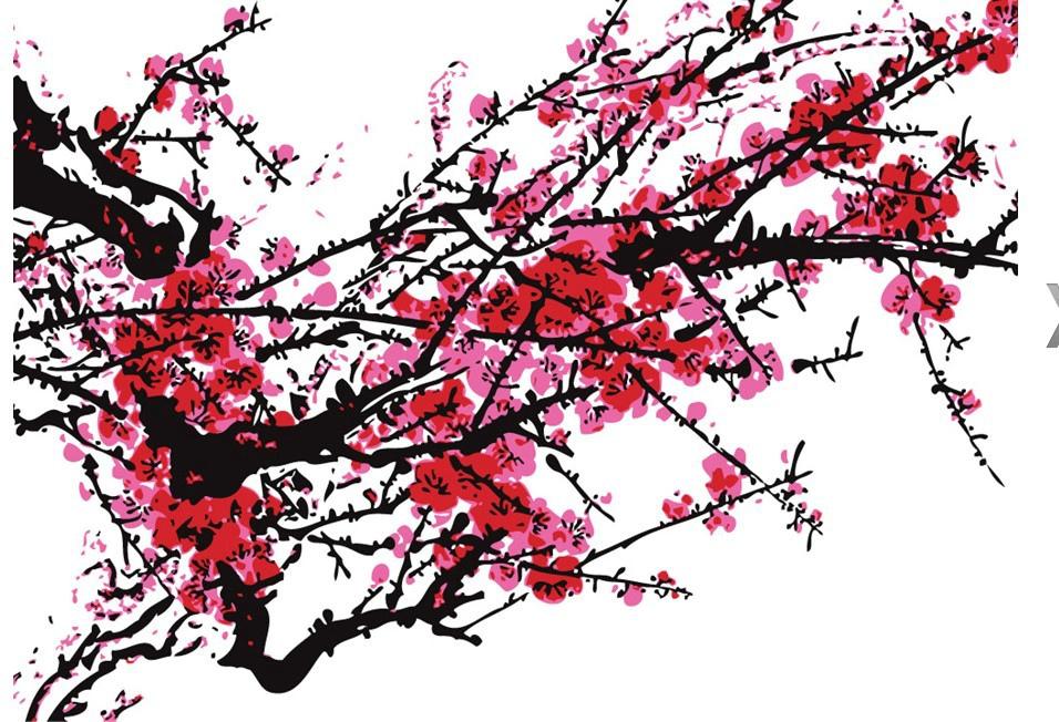 水彩画梅花教程步骤图片
